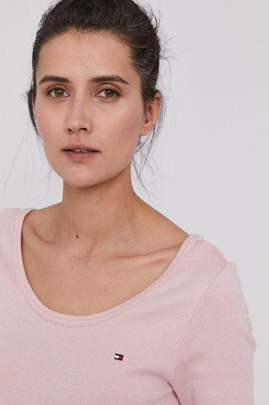 pastelová ružová Tommy Hilfiger - Tričko