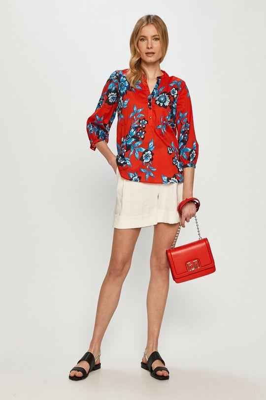 Tommy Hilfiger - Bluzka bawełniana czerwony