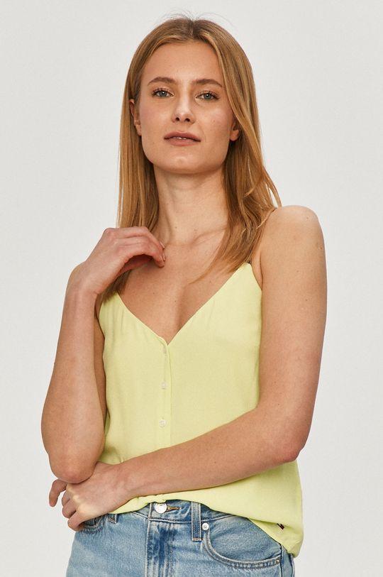 żółto - zielony Tommy Jeans - Bluzka Damski
