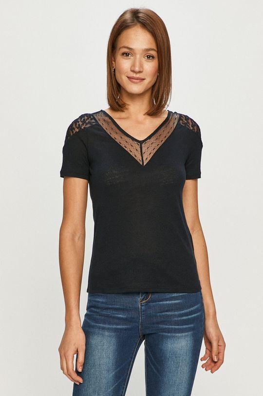 granatowy Morgan - T-shirt Damski