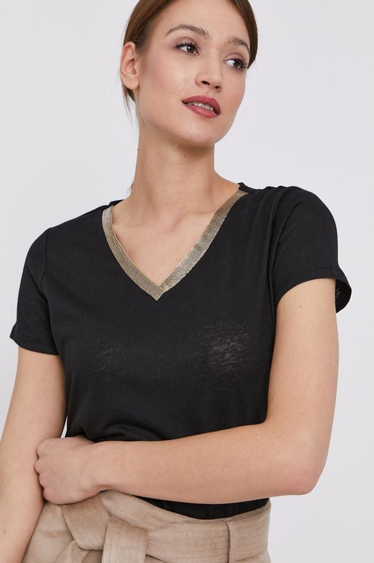czarny Morgan - T-shirt Damski