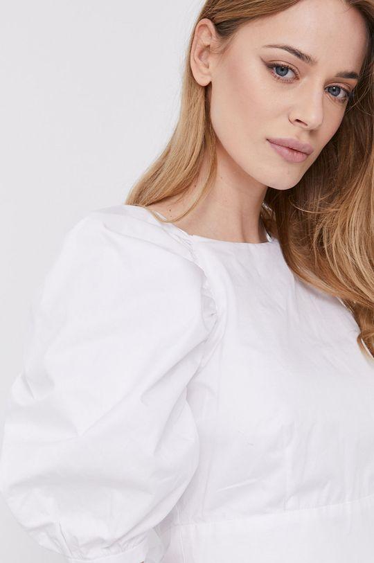 biały Bardot - Bluzka bawełniana Damski