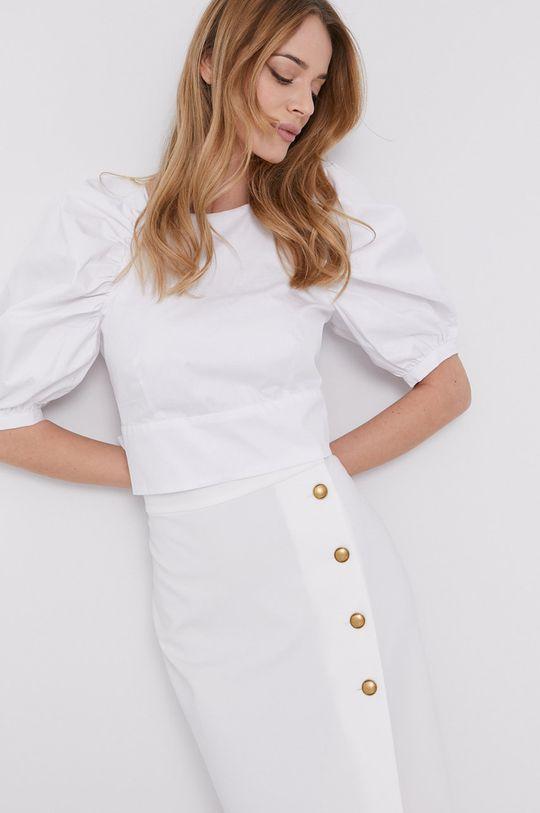 biały Bardot - Bluzka bawełniana