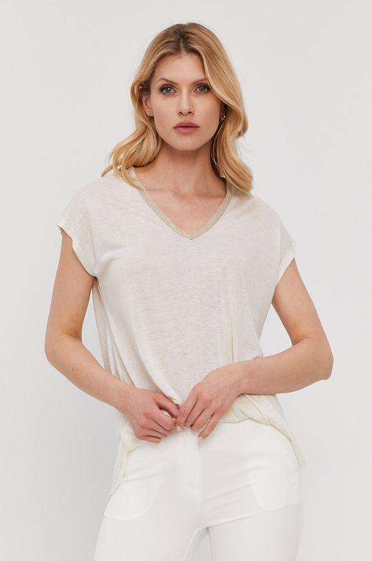 biały NISSA - T-shirt Damski
