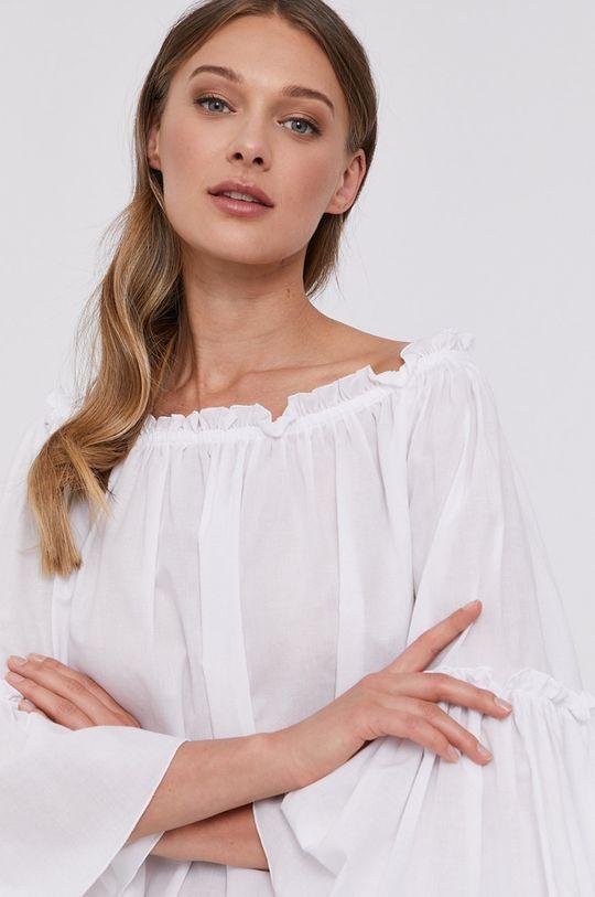 biały Patrizia Pepe - Bluzka bawełniana