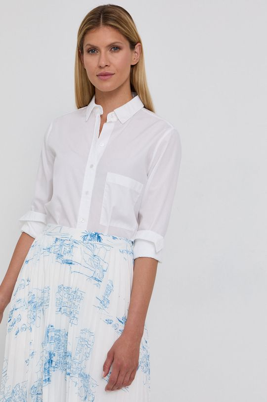 biały Boss - Koszula bawełniana Damski
