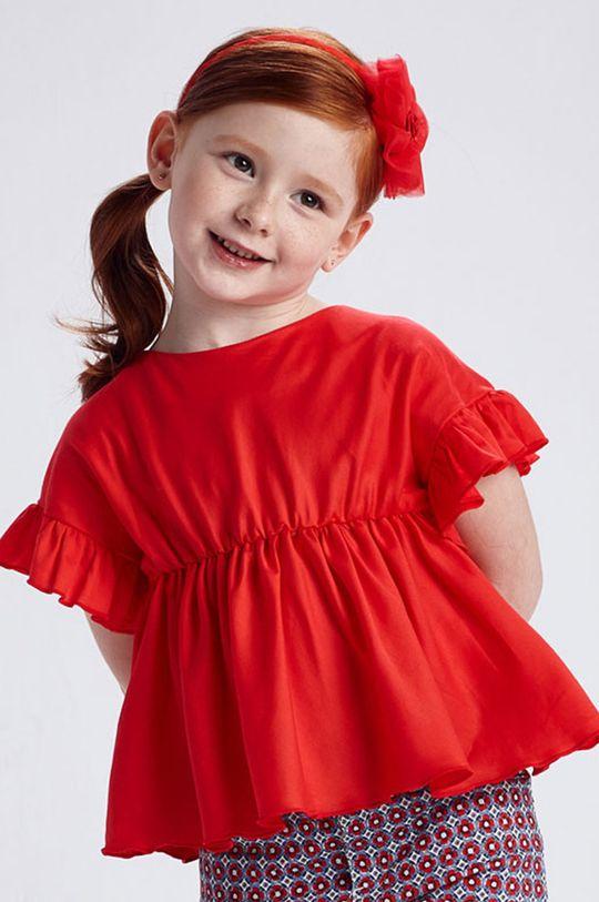 czerwony Mayoral - Bluzka dziecięca Dziewczęcy
