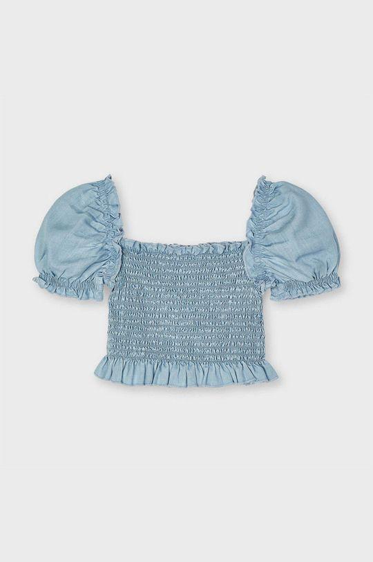 Mayoral - Bluzka dziecięca jasny niebieski