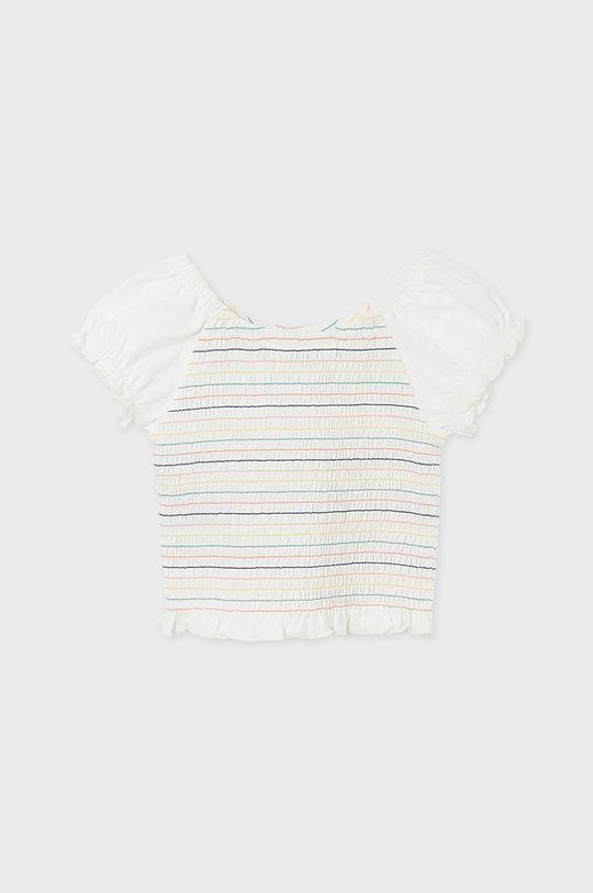 Mayoral - Bluzka dziecięca kremowy