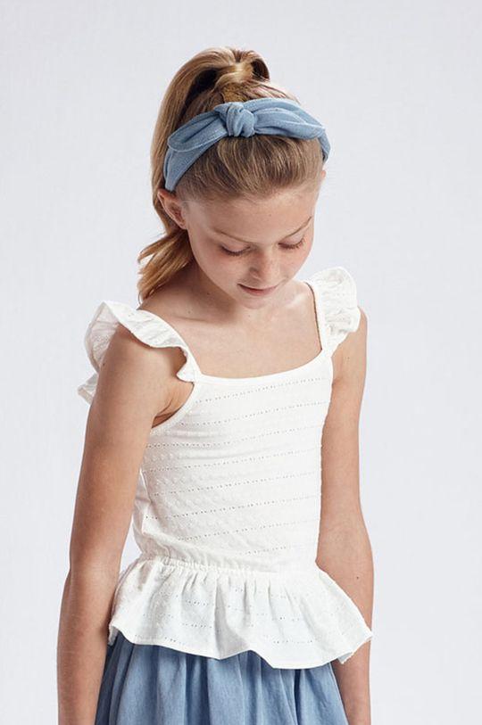 kremowy Mayoral - Bluzka dziecięca Dziewczęcy