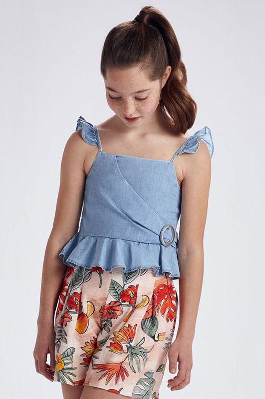 blady niebieski Mayoral - Bluzka dziecięca Dziewczęcy