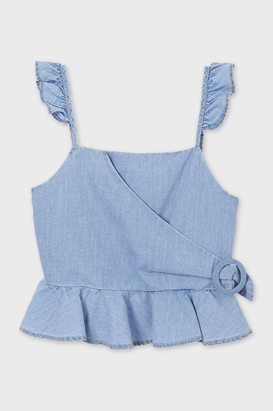 Mayoral - Bluzka dziecięca blady niebieski