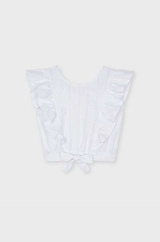 biały Mayoral - Bluzka dziecięca Dziewczęcy