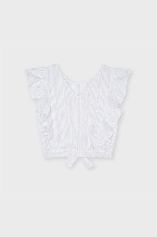 Mayoral - Bluzka dziecięca biały