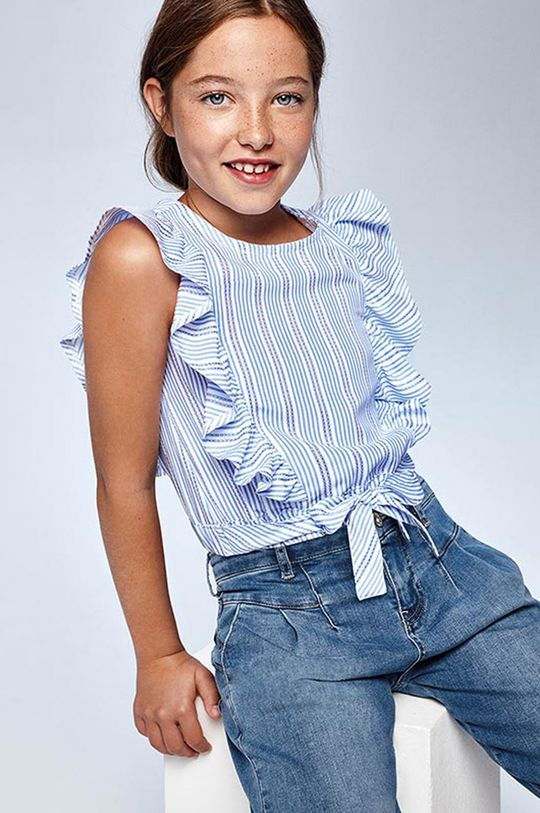 niebieski Mayoral - Bluzka dziecięca Dziewczęcy