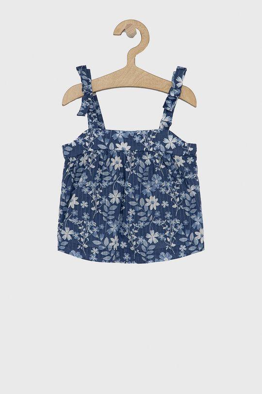 fioletowy GAP - Bluzka bawełniana dziecięca Dziewczęcy