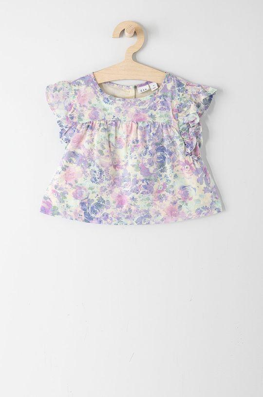 lawendowy GAP - Bluzka bawełniana dziecięca 104-176 cm Dziewczęcy