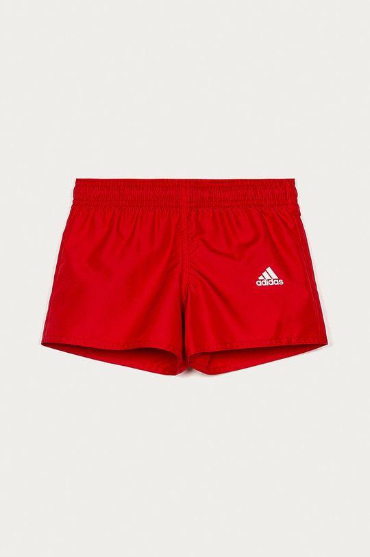 červená adidas Performance - Dětské plavkové šortky 116-158 cm Chlapecký