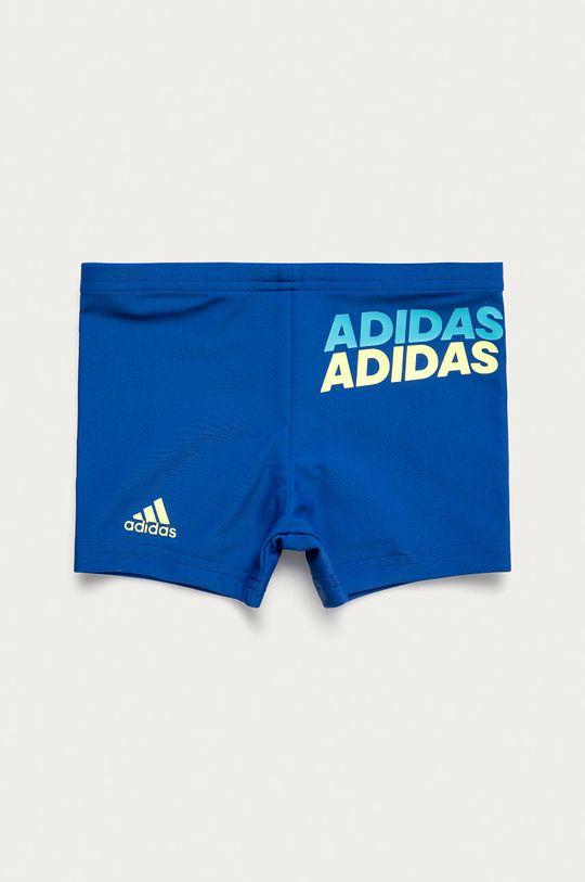 modrá adidas Performance - Detské plavky Chlapčenský