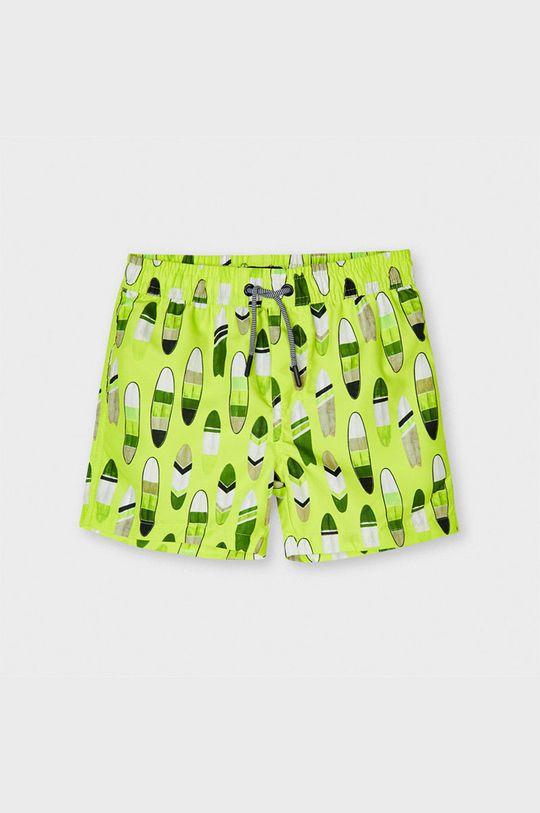 žlto-zelená Mayoral - Detské plavkové šortky Chlapčenský