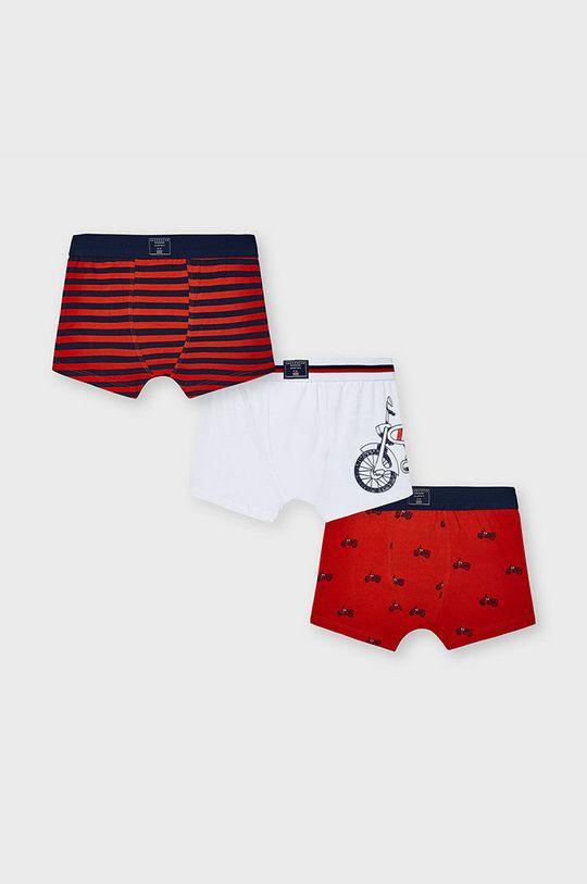 ostrá červená Mayoral - Dětské boxerky (3-pack) Chlapecký