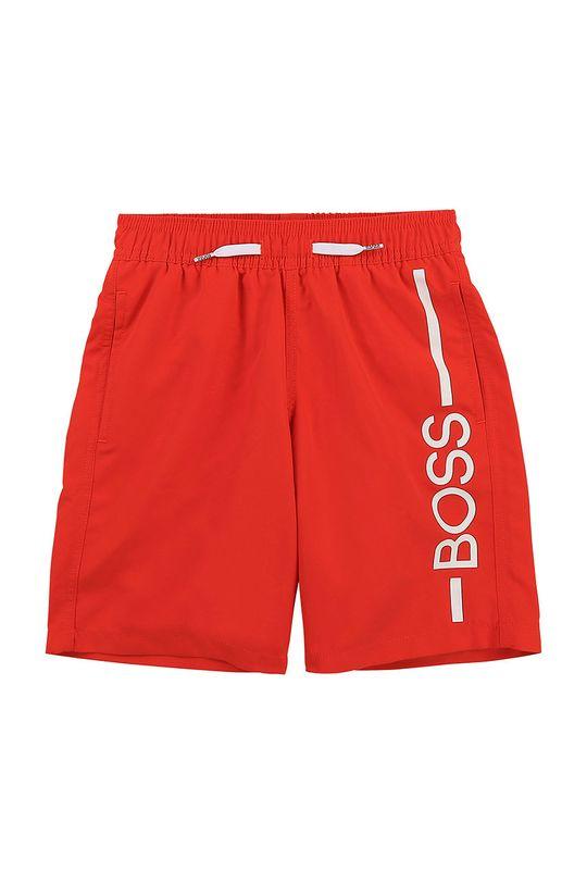 ostrá červená Boss - Dětské plavkové šortky Chlapecký