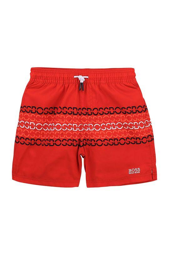 červená Boss - Detské plavkové šortky Chlapčenský