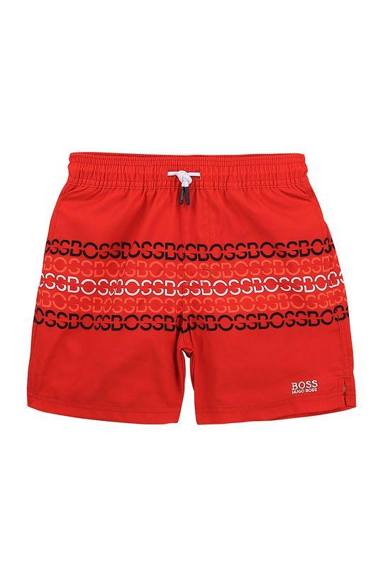 czerwony Boss - Szorty kąpielowe dziecięce Chłopięcy