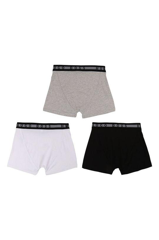Boss - Dětské boxerky (3-PACK) černá