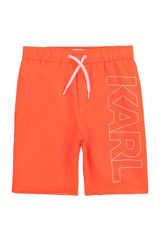 korálová Karl Lagerfeld - Dětské plavkové šortky Chlapecký