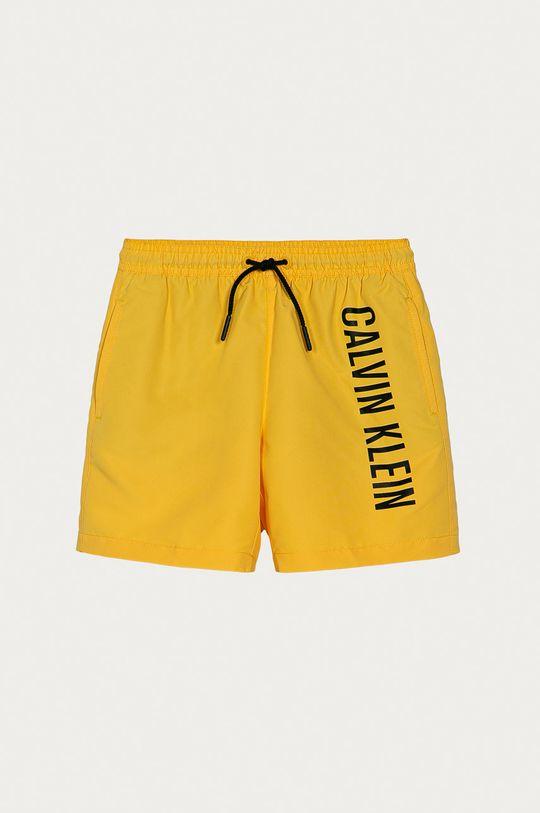 horčicová Calvin Klein - Detské krátke nohavice 128-176 cm Chlapčenský