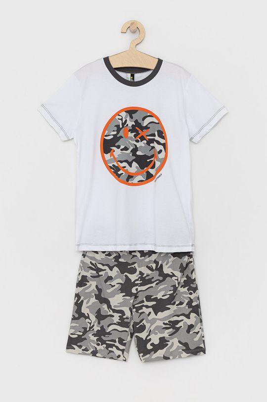bílá United Colors of Benetton - Dětské pyžamo X Smiley Chlapecký