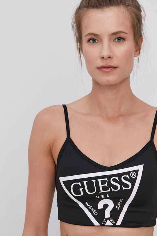 czarny Guess - Biustonosz sportowy