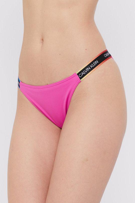 purpurowy Calvin Klein - Figi kąpielowe Damski