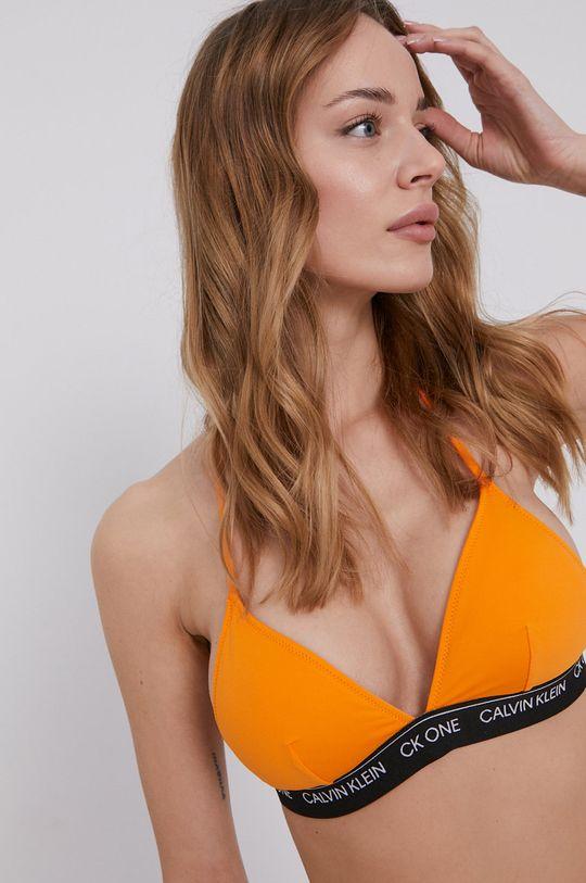 oranžová Calvin Klein - Plavková podprsenka Dámský