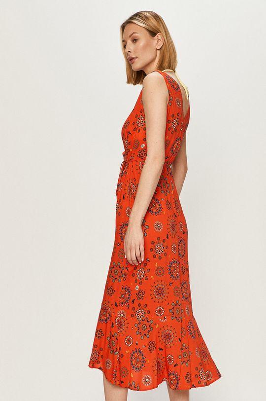 Desigual - Sukienka pomarańczowy