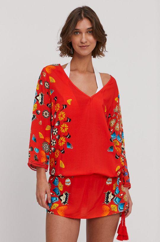 oranžová Desigual - Plážové šaty Dámský