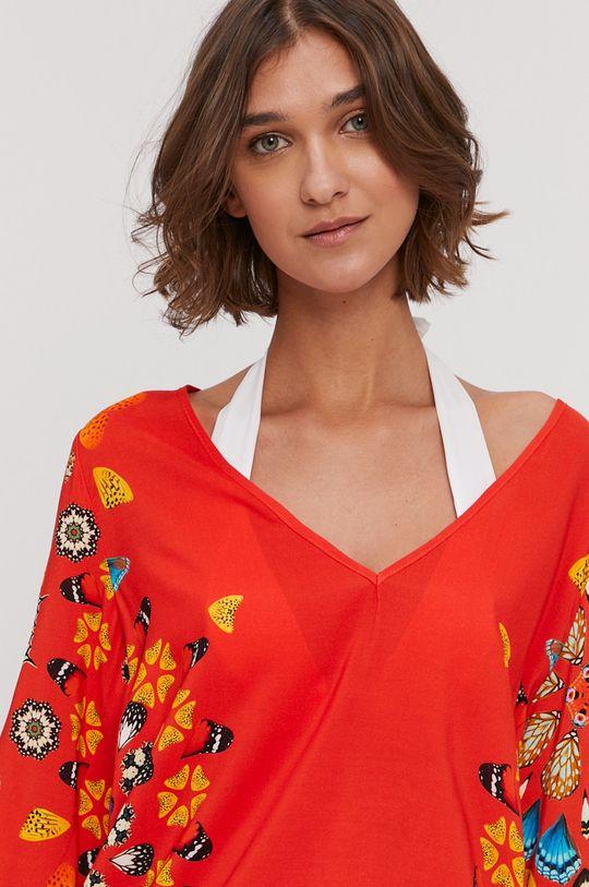 oranžová Desigual - Plážové šaty