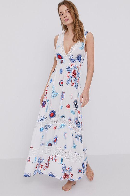 biały Desigual - Sukienka plażowa Damski