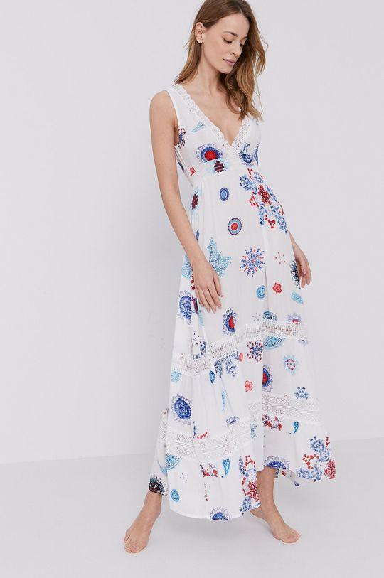 Desigual - Sukienka plażowa 20 % Bawełna, 80 % Wiskoza