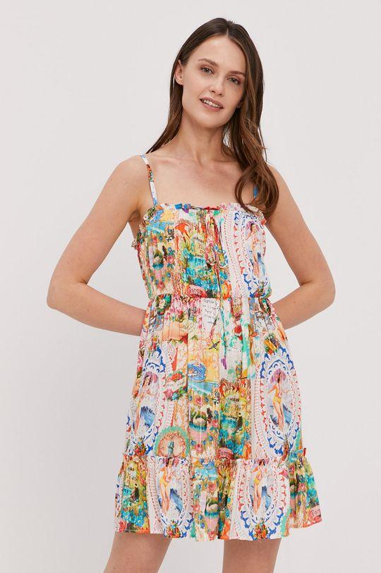 Desigual - Sukienka plażowa biały