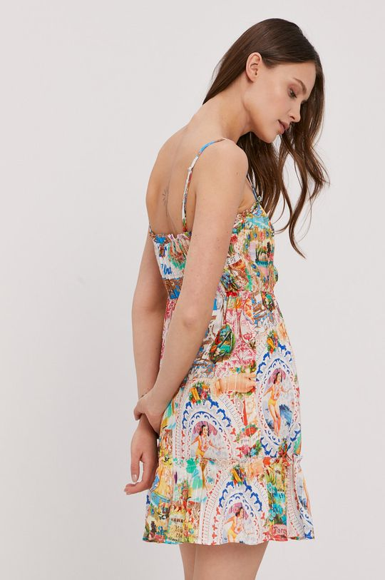 Desigual - Sukienka plażowa 99 % Wiskoza, 1 % Włókno metaliczne