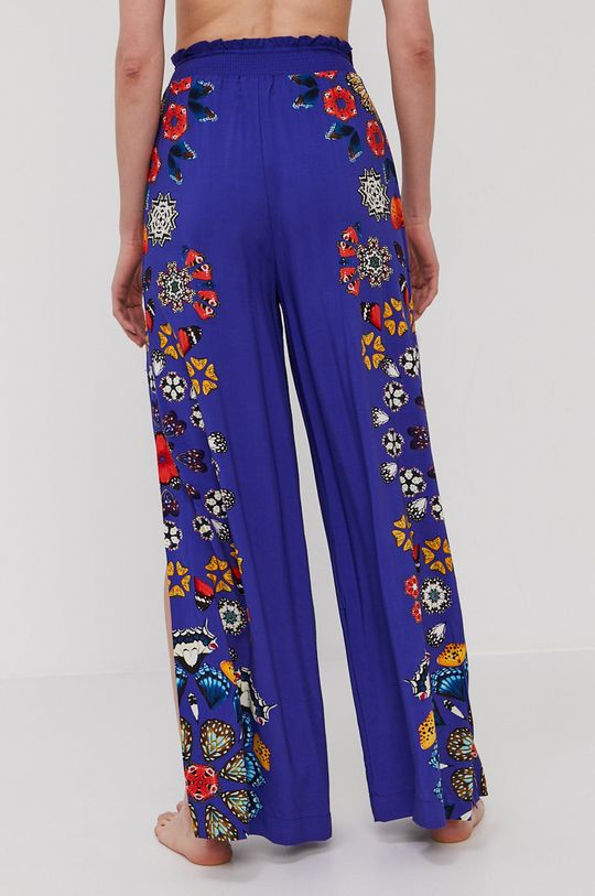 Desigual - Plážové nohavice modrá
