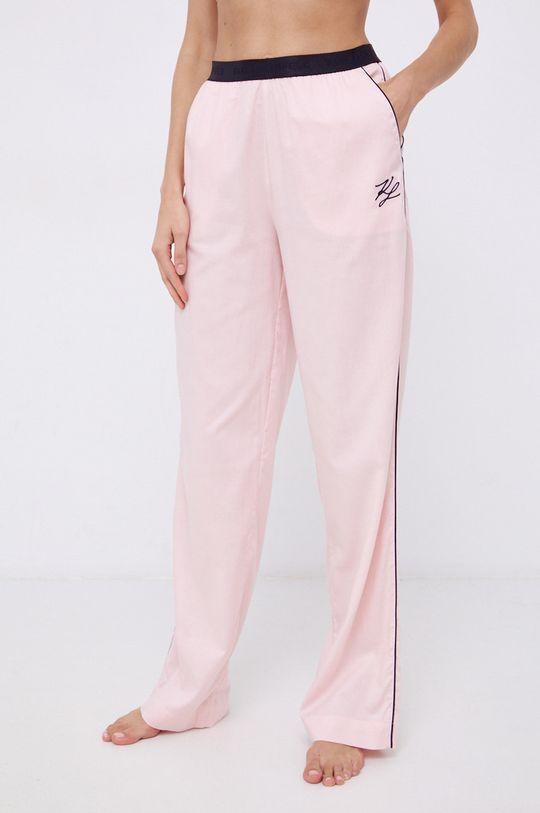 różowy Karl Lagerfeld - Spodnie piżamowe Damski