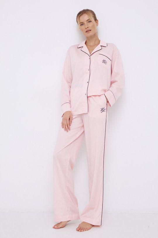 Karl Lagerfeld - Spodnie piżamowe różowy