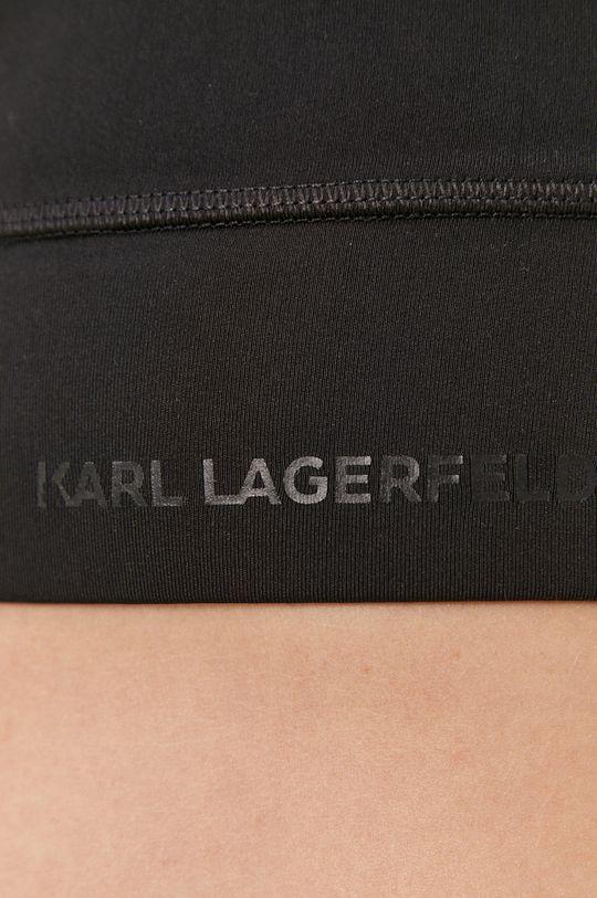 czarny Karl Lagerfeld - Biustonosz sportowy