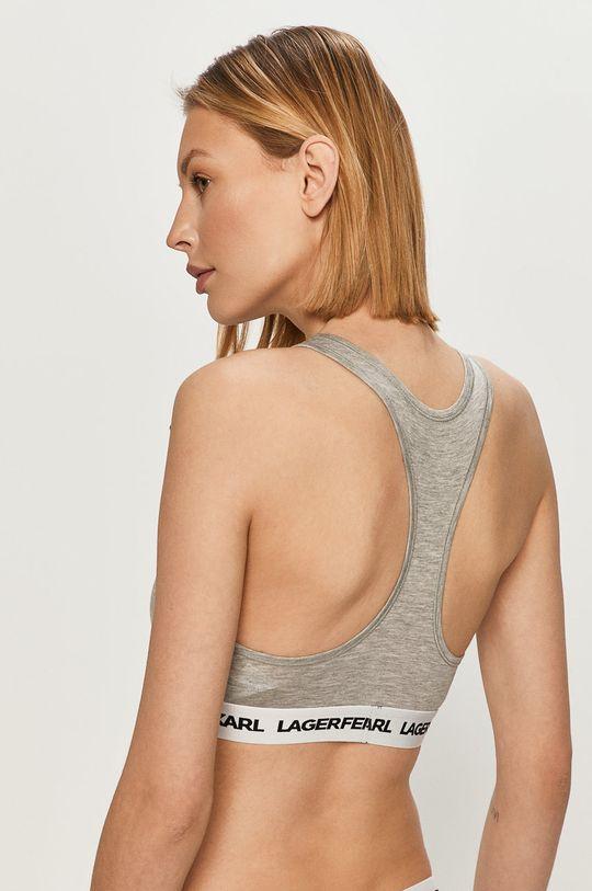 Karl Lagerfeld - Sportovní podprsenka světle šedá