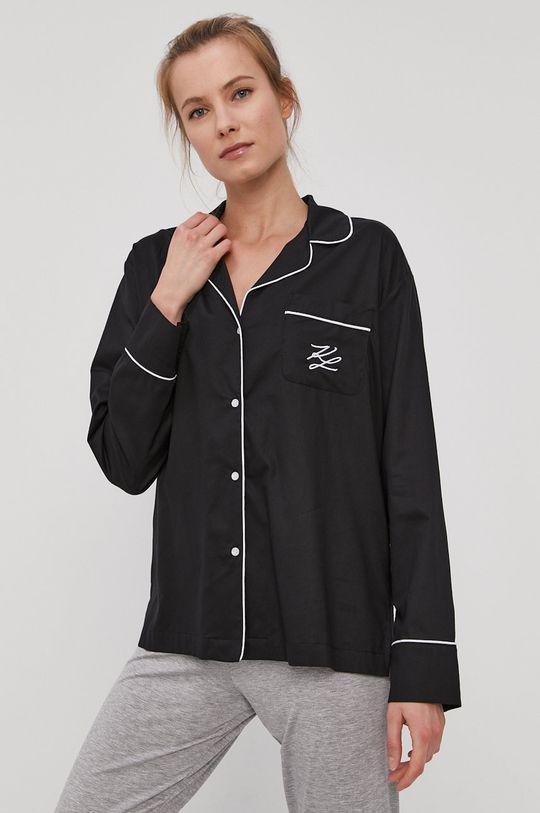 czarny Karl Lagerfeld - Koszula piżamowa Damski