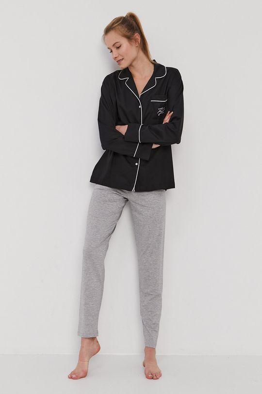 Karl Lagerfeld - Koszula piżamowa czarny