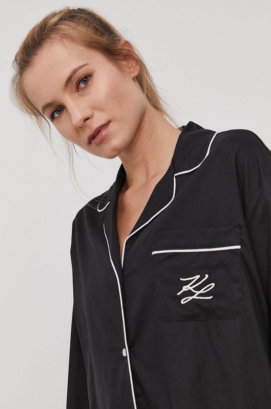 czarny Karl Lagerfeld - Koszula piżamowa